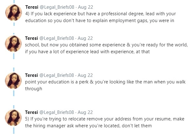Wow Is This The Best Cv Advice Ever Twitter User Dishes Out For