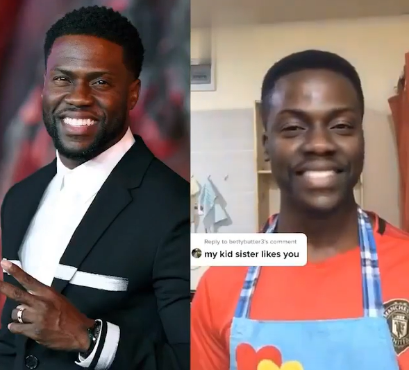 """See the """"something fishy going on"""" Kevin Hart Doppelganger"""